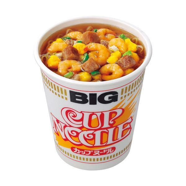 (まとめ)日清食品 カップ ヌードル ビッグ100g 1ケース(12食)〔×2セット〕
