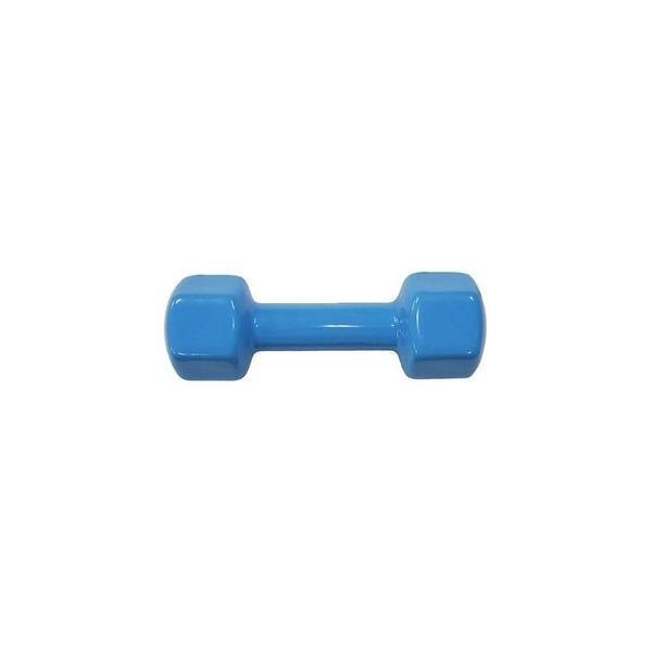 カラー 鉄アレー/ダンベル 〔3kg×1本〕 ブルー ビニールコーティング 防滑 防傷 転がりにくい仕様 〔スポーツ用品 運動用品〕
