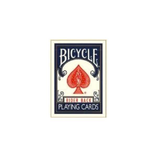 〔トランプ〕BICYCLE(バイスクル) ライダーバック ポーカーサイズ 〔ブルー〕〔2個セット〕