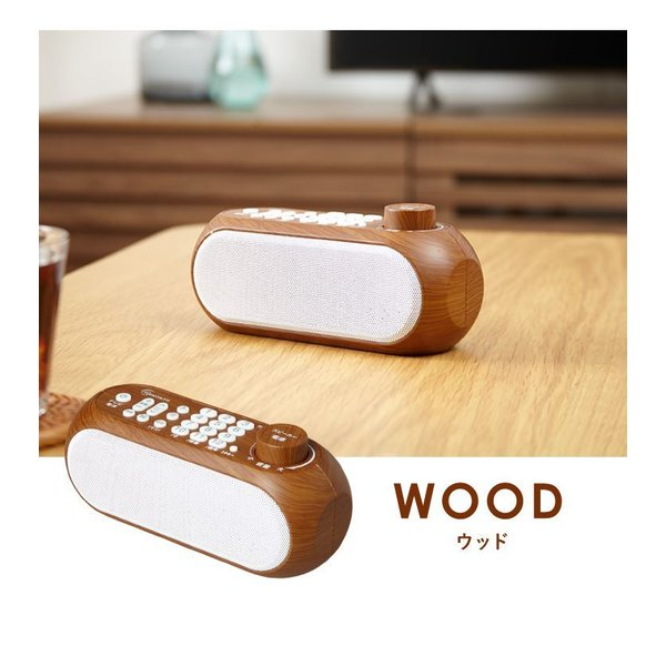 お手元スピーカー スピーカー テレビ用 ワイヤレススピーカー simplus シンプラス SP-LD100 2色 ホワイト ブラック テレビスピーカー ワイヤレス