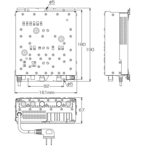 マスプロ 4K・8K衛星放送(3224MHz)対応 共同受信用 CATV・BS・CSブースター 40dB型 10BCAW40 (7BCA40S後継品)
