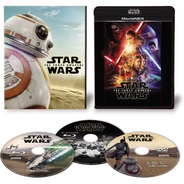 送料無料 スター・ウォーズ/フォースの覚醒 MovieNEX 初回限定版 ブルーレイ+DVD+デジタルコピー クラウド対応 Blu-ray スターウォーズ STAR WARS 価格3 2006NE|red-monkey