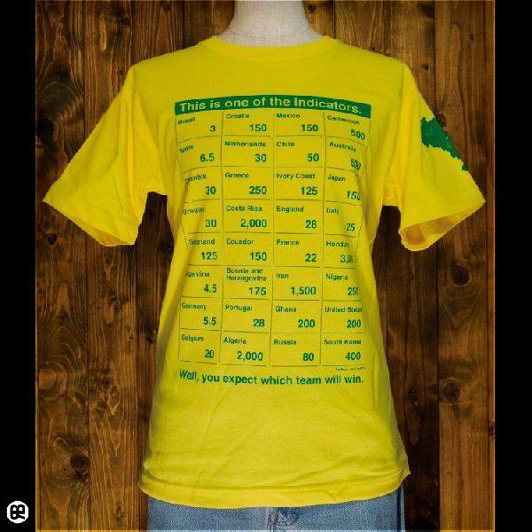 NowBetting : イエロー/6.2oz半袖Tee/SpoTee/サイズ XS,S,M,L/メンズ/レディース/Tシャツ専門店|redbros