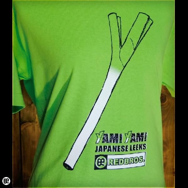 Tシャツ/メンズ/レディース/6.2oz半袖Tシャツ : ネギ最高! : ライム|redbros|04