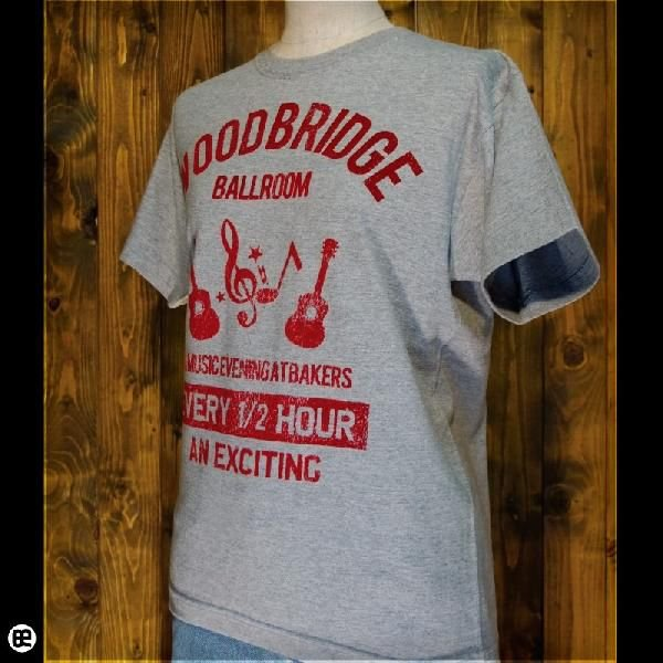 Tシャツ/メンズ/レディース/6.2oz半袖Tシャツ : WOODBRIDGE : ヘザーグレー|redbros|03