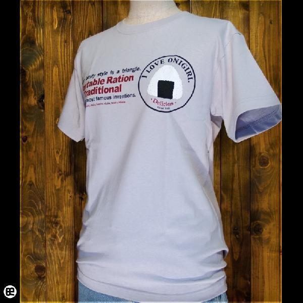 Tシャツ メンズ レディース 6.2oz半袖Tee おにぎり シルバーグレー|redbros|03