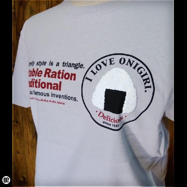 Tシャツ メンズ レディース 6.2oz半袖Tee おにぎり シルバーグレー|redbros|04