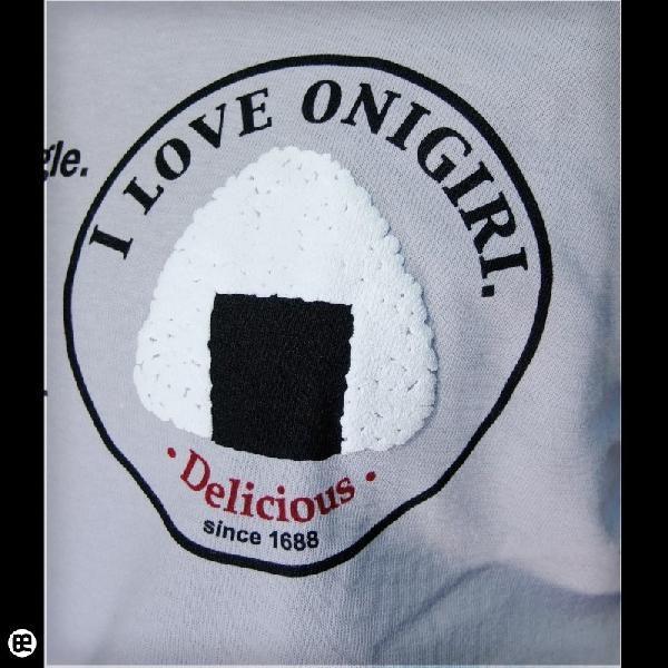 Tシャツ メンズ レディース 6.2oz半袖Tee おにぎり シルバーグレー|redbros|05