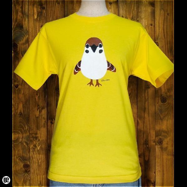 Tシャツ メンズ レディース 6.2oz半袖Tシャツ チュン太郎 イエロー|redbros