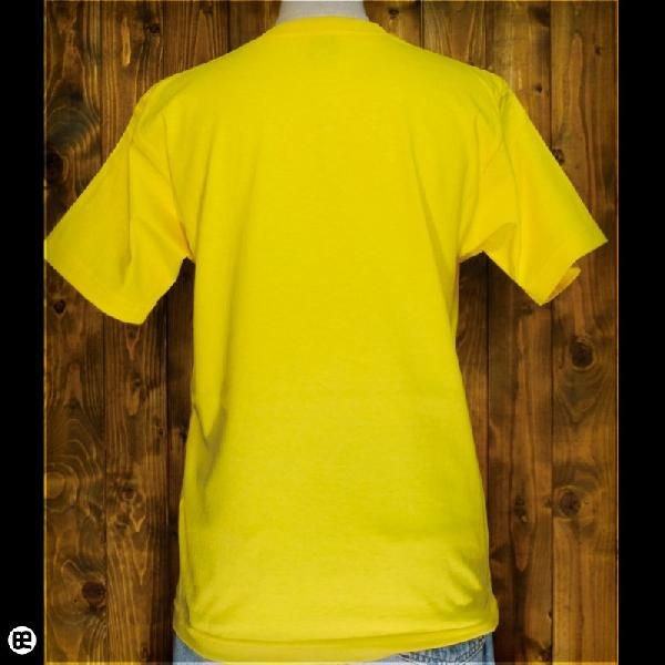 Tシャツ メンズ レディース 6.2oz半袖Tシャツ チュン太郎 イエロー|redbros|02