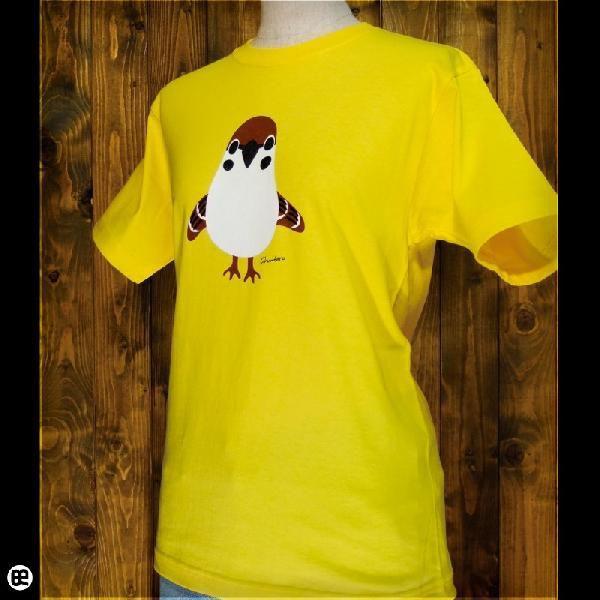 Tシャツ メンズ レディース 6.2oz半袖Tシャツ チュン太郎 イエロー|redbros|03