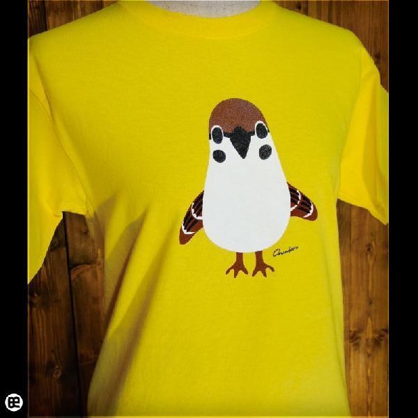 Tシャツ メンズ レディース 6.2oz半袖Tシャツ チュン太郎 イエロー|redbros|04