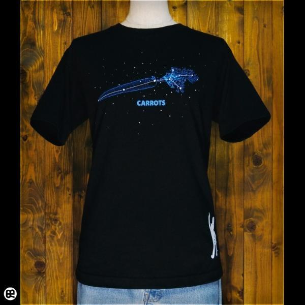 Tシャツ/メンズ/レディース/6.2oz半袖Tシャツ :  星に願いを : ブラック redbros 02