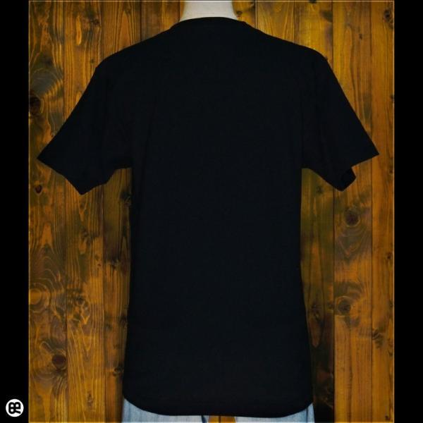 Tシャツ/メンズ/レディース/6.2oz半袖Tシャツ : シロクマ親子 : ディープブラック|redbros|02