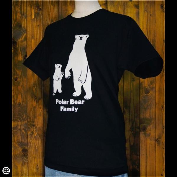 Tシャツ/メンズ/レディース/6.2oz半袖Tシャツ : シロクマ親子 : ディープブラック|redbros|03