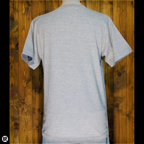 Tシャツ メンズ レディース 6.2oz半袖Tシャツ こましば ヘザーグレー|redbros|02