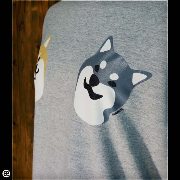 Tシャツ メンズ レディース 6.2oz半袖Tシャツ こましば ヘザーグレー|redbros|05
