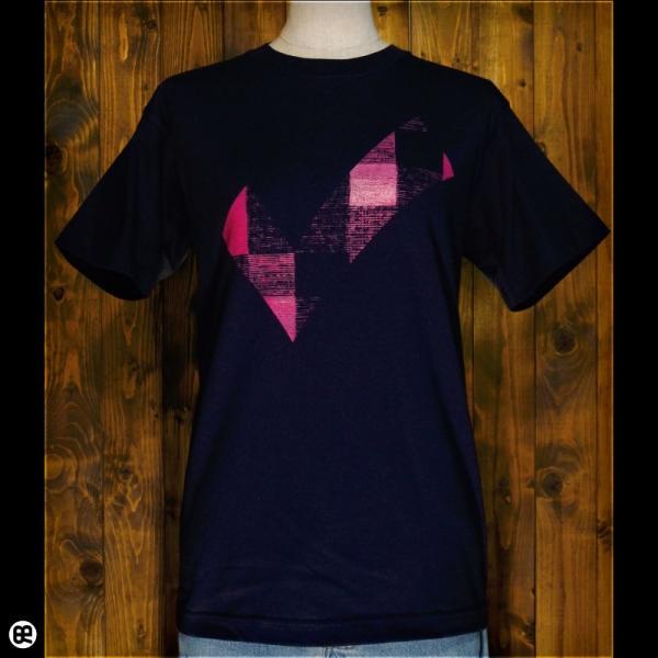 Tシャツ/メンズ/レディース/6.2oz半袖Tシャツ : チェックdeチェック : ネイビー redbros