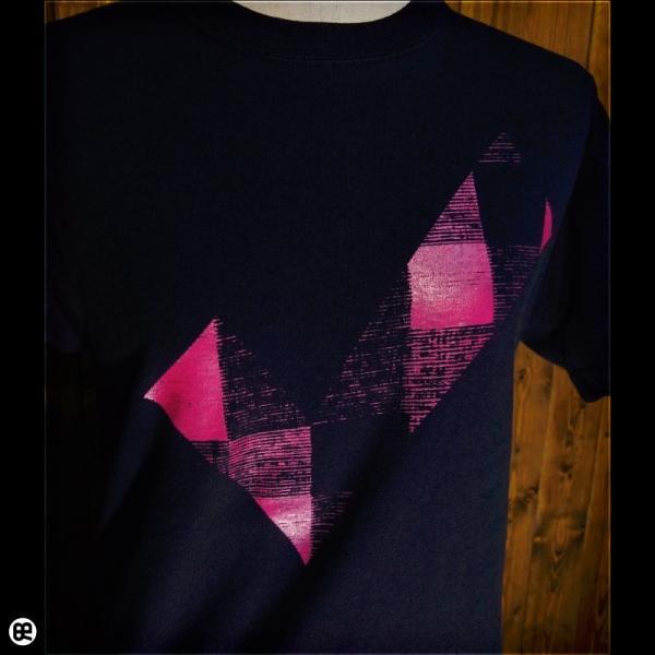 Tシャツ/メンズ/レディース/6.2oz半袖Tシャツ : チェックdeチェック : ネイビー redbros 04