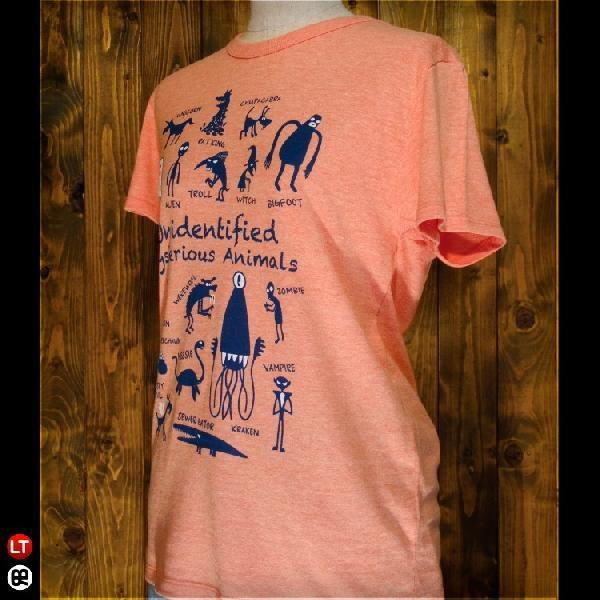 Tシャツ メンズ レディース 4.3oz半袖Tee UMA ヘザーオレンジ|redbros|03