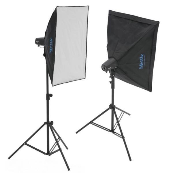 スタジオ撮影用モノブロックストロボ 1灯スタンドキット 120Ws GN28軽量約750g放電管仕様 5ワットLEDモデリングランプ装備《安心の1年間品質保証》【SSKA-01】