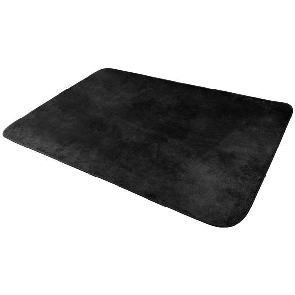OSJ ラグ 洗える オールシーズン ホットカーペット対応 140X200cm 6色選べる (ブラック)|redheart|02
