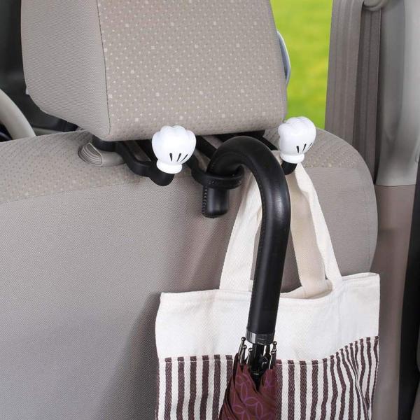 ナポレックス 車用 シートフック ディズニー ダブルアームシートフック ミッキー 総耐荷重5kg 傘かけにも ヘッドレスト取付 汎用 WD-371|redheart|04