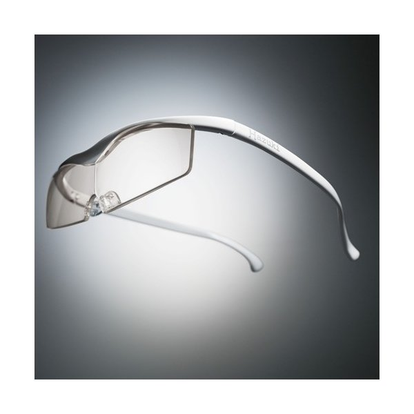 Hazuki ハズキルーペ コンパクト カラーレンズ 1.32倍 白 お取り寄せ 母の日 父の日 敬老の日/介護 プレゼント 遠近両用 老眼鏡 メガネルーペ 拡大鏡