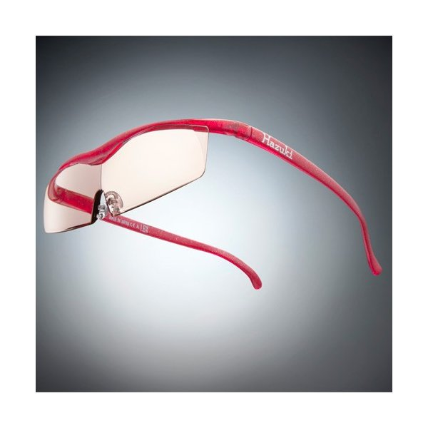 Hazuki ハズキルーペ コンパクト カラーレンズ 1.32倍 ルビー(ラメ入) お取り寄せ 母の日 父の日 敬老の日/介護 プレゼント 遠近両用 老眼鏡 メガネルーペ 拡大