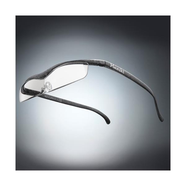 Hazuki ハズキルーペ クール クリアレンズ 1.32倍 ブラックグレー(ラメ入) お取り寄せ 母の日 父の日 敬老の日/介護 プレゼント 遠近両用 老眼鏡 メガネルーペ