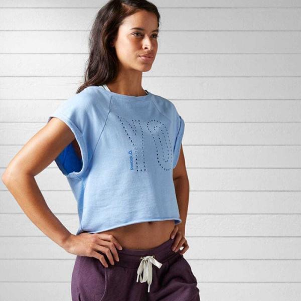 リーボック ウェア トップス Reebok ヨガ フレンチテリーTシャツ|reebok