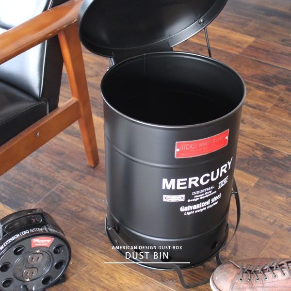 ダストボックス ゴミ箱 ごみ 缶 ダストビン 23L 蓋付き ブリキ アメリカン おしゃれ オフィス 事務所 ショップ ガレージ 車庫  雑貨 reech