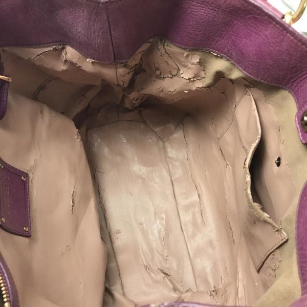 PRADA プラダ BN1777 VITELLO SHINE (ヴィテロシャイン) 2wayバッグ MALVA ピンク系 レディース