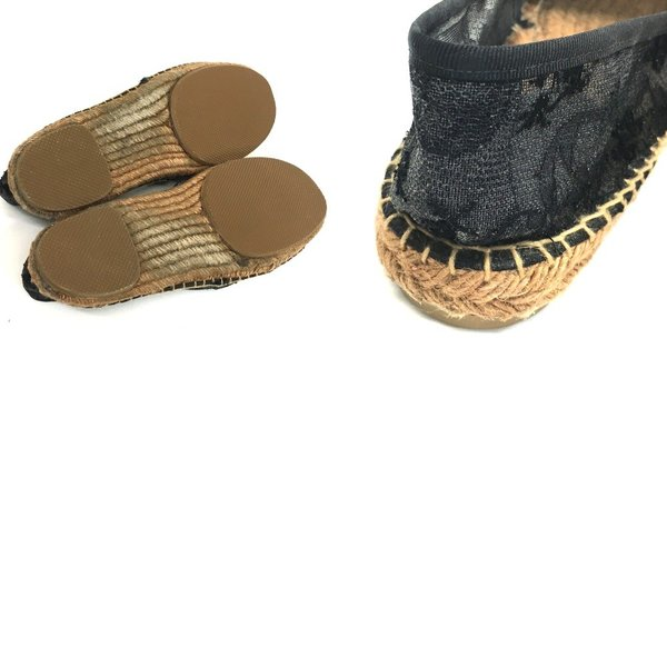 DOLCE&GABBANA ドルチェアンドガッバーナ 刺繍 花柄 レース シースルー 靴その他 ブラック レディース 【中古】