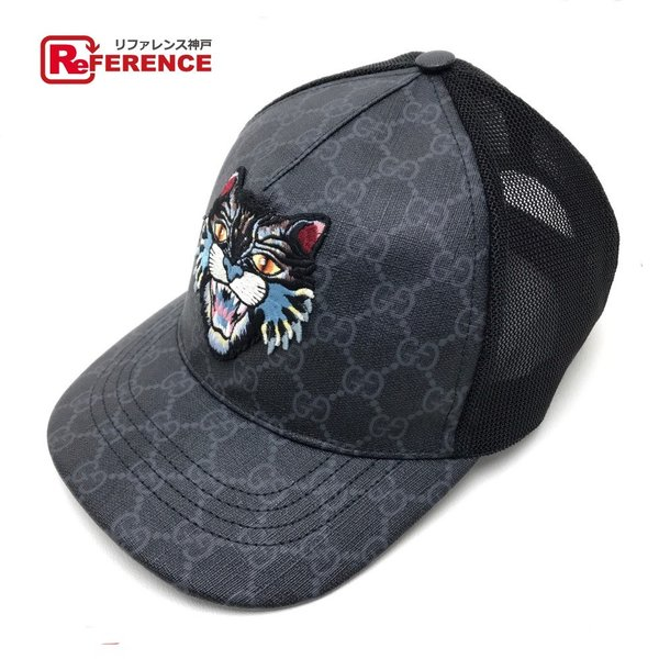 417fb81d8aba GUCCI グッチ 426887 ベースボールキャップ メンズ レディース 帽子 ブラック ユニセックス 【中古】の