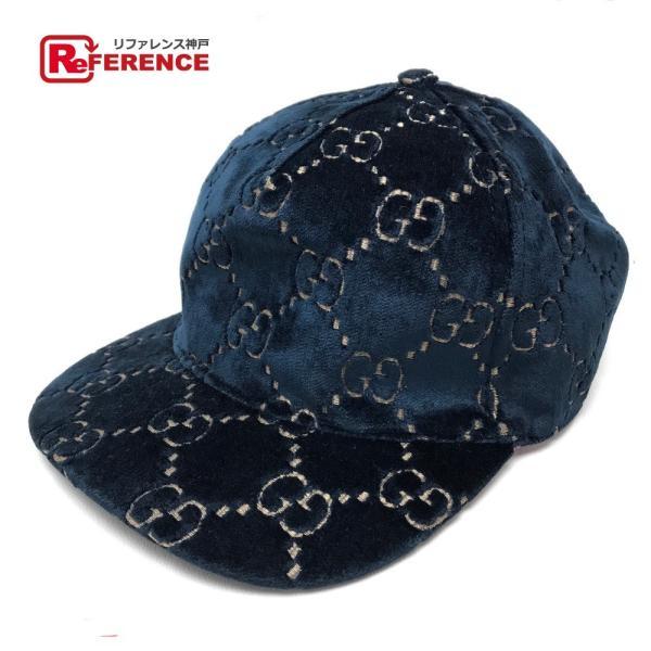 565bb8ae4ceb GUCCI グッチ ベースボールキャップ メンズ レディース 帽子 ネイビー ユニセックス 【中古】の画像