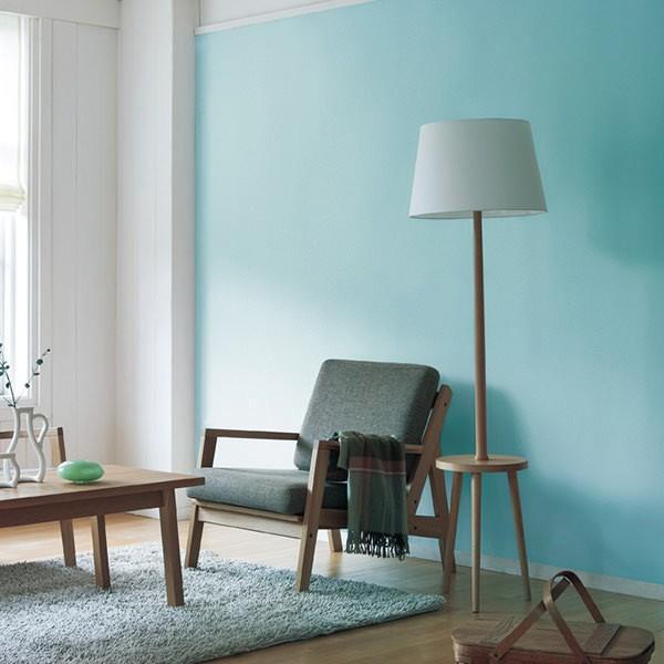 壁紙 シール壁紙 貼ってはがせる はがせる壁紙RILM 93cm幅オーダーカット 104 布地調の無地ブルー 返品・交換不可|reform-myhome|02