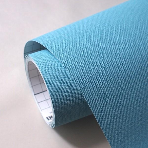 壁紙 シール壁紙 貼ってはがせる はがせる壁紙RILM 93cm幅オーダーカット 104 布地調の無地ブルー 返品・交換不可|reform-myhome|04