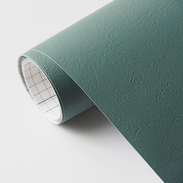 壁紙 シール壁紙 貼ってはがせる はがせる壁紙RILM 93cm幅オーダーカット 154 漆喰調ブルーグリーン 返品・交換不可|reform-myhome|04