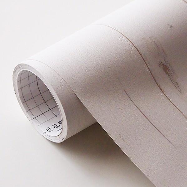 壁紙 シール壁紙 貼ってはがせる はがせる壁紙RILM 93cm幅オーダーカット 317 木目柄グレインホワイト 返品・交換不可|reform-myhome|04