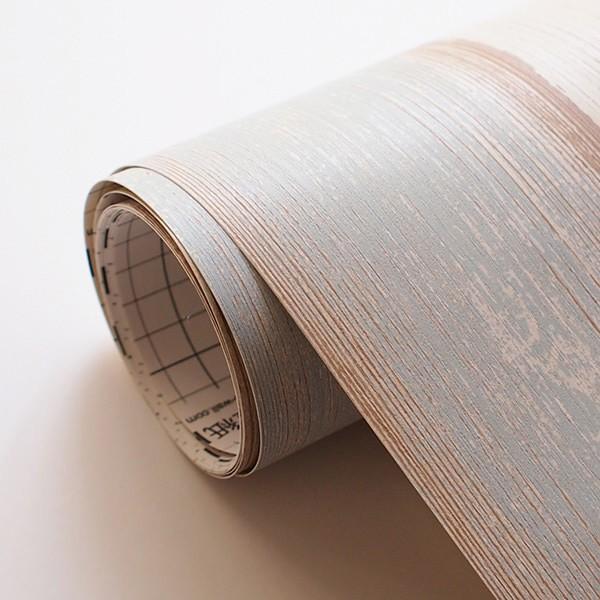 壁紙 シール壁紙 貼ってはがせる はがせる壁紙RILM 93cm幅オーダーカット 318 木目柄ランダムダメージウッド 返品・交換不可|reform-myhome|04