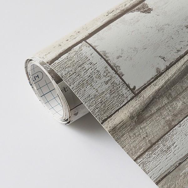 壁紙 シール壁紙 貼ってはがせる はがせる壁紙RILM 93cm幅オーダーカット 335 木目柄ホワイトサイドウッド 返品・交換不可|reform-myhome|04