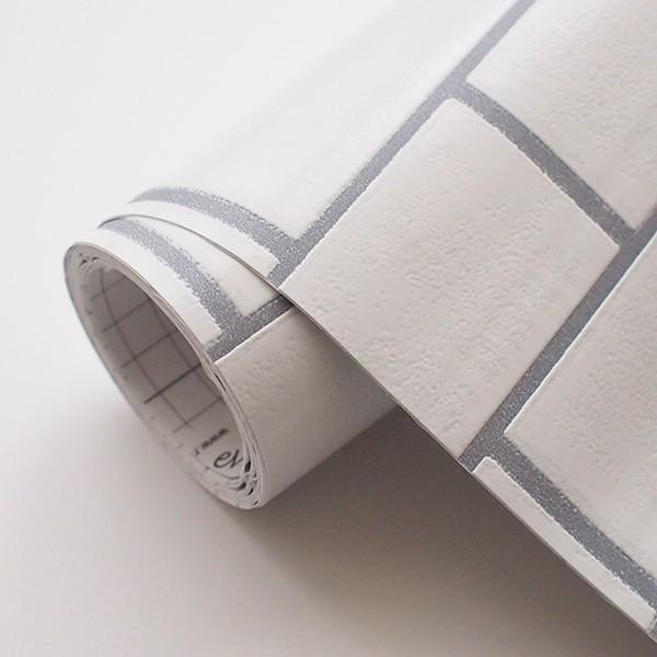 壁紙 シール壁紙 貼ってはがせる はがせる壁紙RILM 93cm幅オーダーカット 580 サブウェイタイル 返品・交換不可 reform-myhome 04