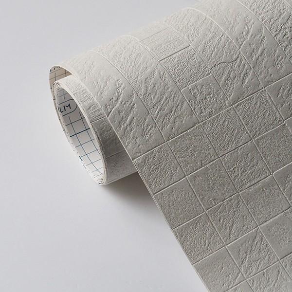 壁紙 シール壁紙 貼ってはがせる はがせる壁紙RILM 93cm幅オーダーカット 581 ランダムタイルストーン 返品・交換不可 reform-myhome 04