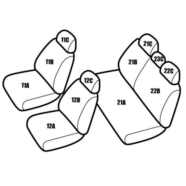 送料無料 品番TA12 アクア NHP10 定員5レガリアパンチングシートカバー|regalia-seatcover|02