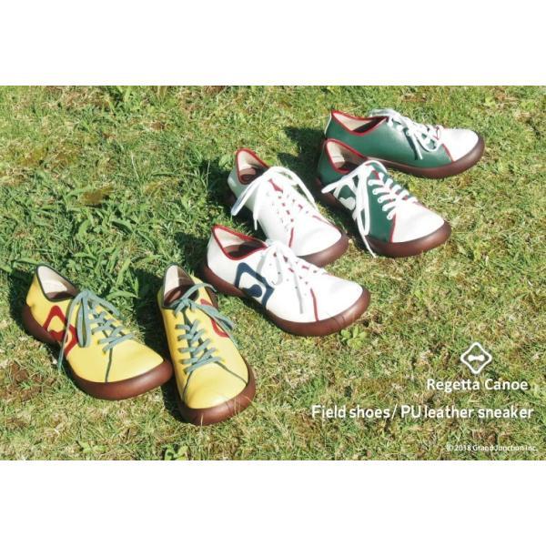 カヌー 靴 レディース PUレザーフラットスニーカー CJFS6802|regettacanoe-gj|02