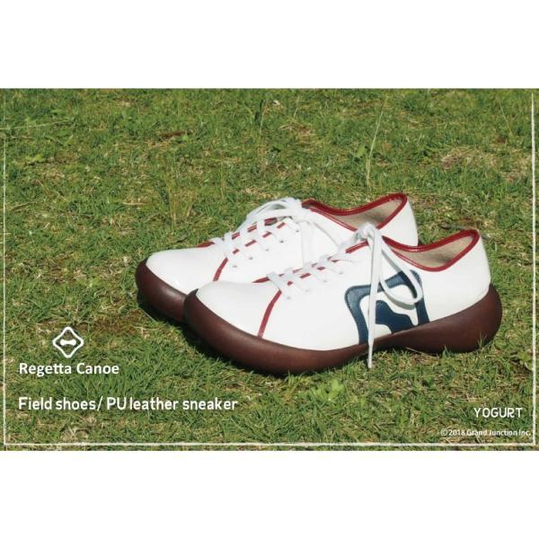 カヌー 靴 レディース PUレザーフラットスニーカー CJFS6802|regettacanoe-gj|04