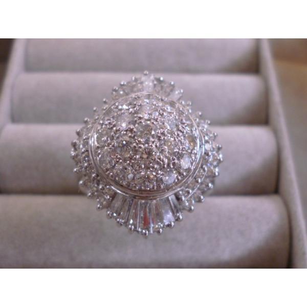 Ptプラチナ×ダイヤモンド合計1.77ct ヨーロピアン ジュエリー レディース 指輪リング