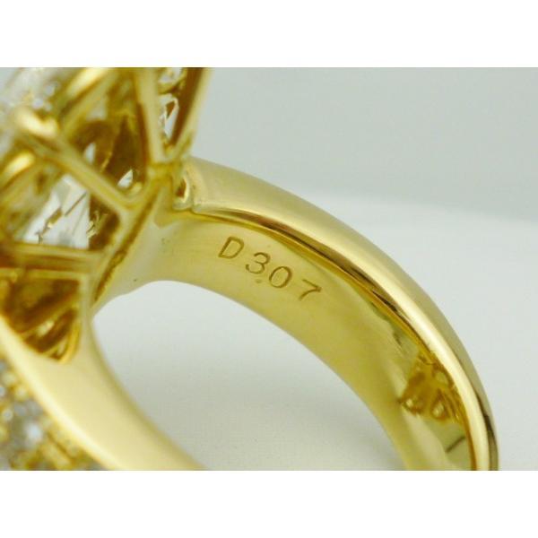 K18×マーキースダイヤモンド4.01ctVLYVVS2×ダイヤモンド合計3.07ct ゴールドリング レディース ジュエリー  極極稀
