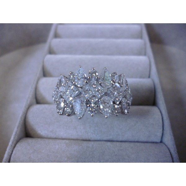 K18WG×ダイヤモンド合計2.40ct 2.40カラットダイヤモンド ホワイトゴールド リング レディース 指輪リング